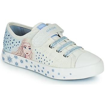 kengät Tytöt Matalavartiset tennarit Geox JR CIAK GIRL Valkoinen / Sininen