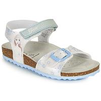 kengät Tytöt Sandaalit ja avokkaat Geox ADRIEL GIRL Valkoinen / Sininen