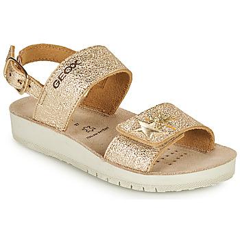 kengät Tytöt Sandaalit ja avokkaat Geox SANDAL COSTAREI GI Kulta