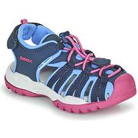kengät Tytöt Urheilusandaalit Geox BOREALIS GIRL Sininen / Vaaleanpunainen