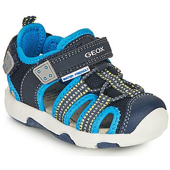 kengät Pojat Urheilusandaalit Geox SANDAL MULTY BOY Sininen
