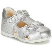 kengät Tytöt Sandaalit ja avokkaat Geox KAYTAN Hopea