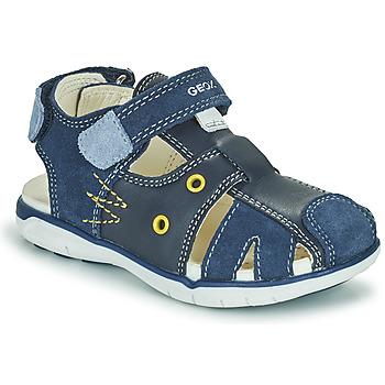 kengät Pojat Sandaalit ja avokkaat Geox SANDAL DELHI BOY Laivastonsininen