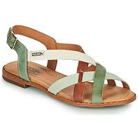 kengät Naiset Sandaalit ja avokkaat Pikolinos ALGAR W0X Ruskea / Vihreä