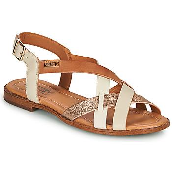 kengät Naiset Sandaalit ja avokkaat Pikolinos ALGAR W0X Valkoinen / Vaaleanpunainen / Kulta