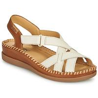 kengät Naiset Sandaalit ja avokkaat Pikolinos CADAQUES W8K Valkoinen / Ruskea