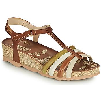 kengät Naiset Sandaalit ja avokkaat Pikolinos MAHON W9E Ruskea / Valkoinen