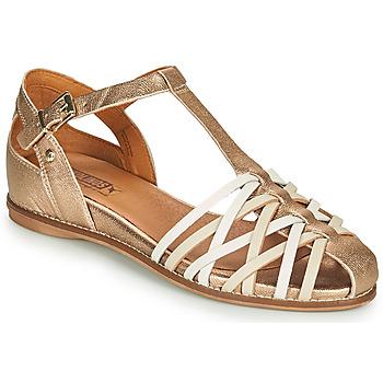 kengät Naiset Sandaalit ja avokkaat Pikolinos TALAVERA W3D Kulta