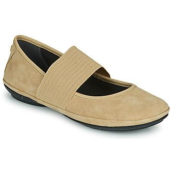 kengät Naiset Balleriinat Camper RIGHT NINA Beige