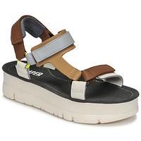 kengät Naiset Sandaalit ja avokkaat Camper ORUGA UP Ruskea / Harmaa