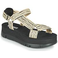 kengät Naiset Sandaalit ja avokkaat Camper ORUGA UP Musta / Beige