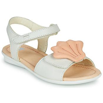 kengät Tytöt Sandaalit ja avokkaat Camper TWINS Vaaleanpunainen / Valkoinen