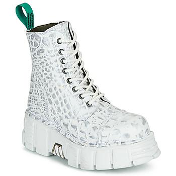 kengät Bootsit New Rock M-MILI083C-V9 Valkoinen