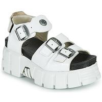 kengät Naiset Sandaalit ja avokkaat New Rock M-BIOS101-C3 Valkoinen