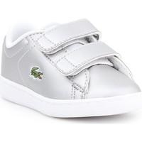 kengät Lapset Matalavartiset tennarit Lacoste Carnaby EVO 317 6 SPI 7-34SPI0006334 silver