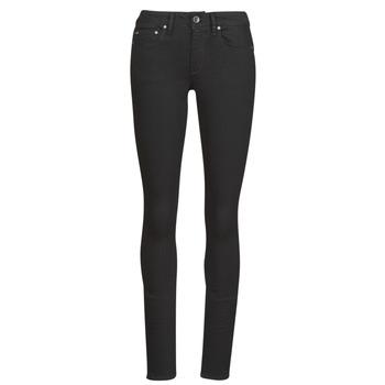 vaatteet Naiset Skinny-farkut G-Star Raw Midge Zip Mid Skinny Wmn Pitch / Musta
