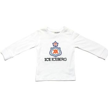 vaatteet Pojat T-paidat pitkillä hihoilla Iceberg TSICE0316B Bianco