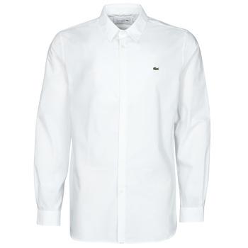 vaatteet Miehet Pitkähihainen paitapusero Lacoste PITTA Valkoinen