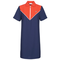 vaatteet Naiset Lyhyt mekko Lacoste FRITTI Punainen / Sininen
