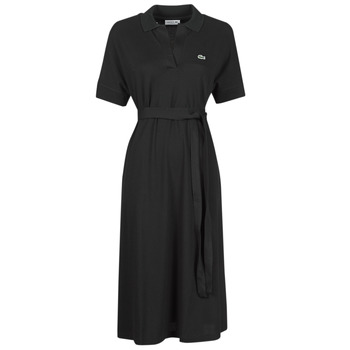 vaatteet Naiset Pitkä mekko Lacoste KONNI Musta