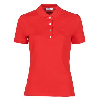 vaatteet Naiset Lyhythihainen poolopaita Lacoste POLO SLIM FIT Punainen
