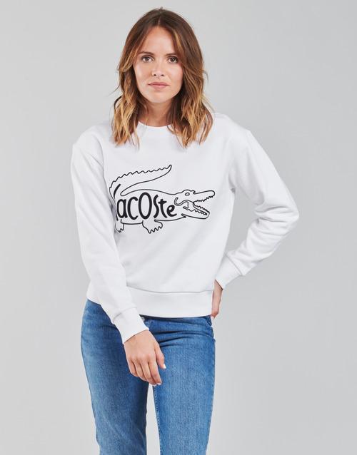 vaatteet Naiset Svetari Lacoste SFORZA Valkoinen