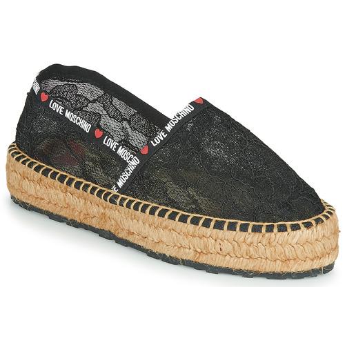kengät Naiset Espadrillot Love Moschino JA10373G1C Musta