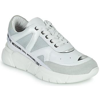 kengät Naiset Matalavartiset tennarit Love Moschino JA15323G1C Valkoinen
