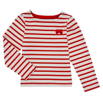 vaatteet Tytöt T-paidat pitkillä hihoilla Petit Bateau MAHALIA Monivärinen