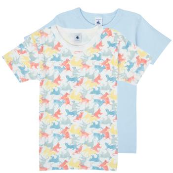 vaatteet Pojat Lyhythihainen t-paita Petit Bateau MANUR Monivärinen