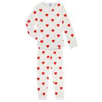 vaatteet Tytöt pyjamat / yöpaidat Petit Bateau MISON Monivärinen