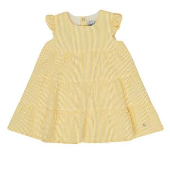 vaatteet Tytöt Lyhyt mekko Petit Bateau MERINGUE Keltainen