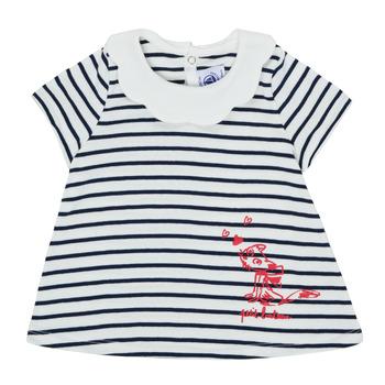 vaatteet Tytöt Lyhythihainen t-paita Petit Bateau MELIANE Monivärinen