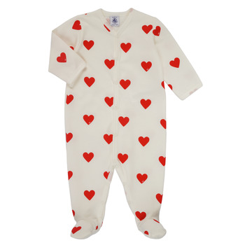 vaatteet Tytöt pyjamat / yöpaidat Petit Bateau MESCOEURS Valkoinen