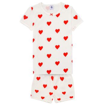 vaatteet Tytöt pyjamat / yöpaidat Petit Bateau MICOURT Monivärinen