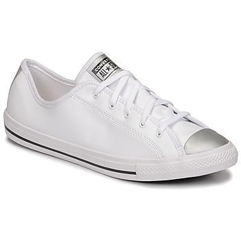 kengät Naiset Matalavartiset tennarit Converse CHUCK TAYLOR ALL STAR DAINTY ANODIZED METALS OX Valkoinen