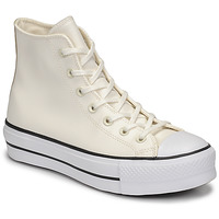 kengät Naiset Korkeavartiset tennarit Converse CHUCK TAYLOR ALL STAR LIFT ANODIZED METALS HI White / Beige