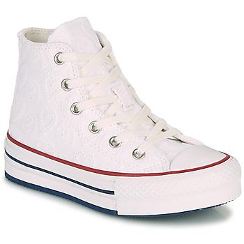 kengät Tytöt Korkeavartiset tennarit Converse CHUCK TAYLOR ALL STAR LIFT LOVE CEREMONY HI Valkoinen