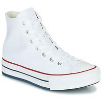 kengät Tytöt Korkeavartiset tennarit Converse CHUCK TAYLOR ALL STAR EVA LIFT CANVAS COLOR HI Valkoinen