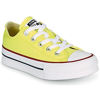 kengät Tytöt Matalavartiset tennarit Converse CHUCK TAYLOR ALL STAR LIFT CANVAS COLOR OX Keltainen