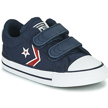 kengät Pojat Matalavartiset tennarit Converse STAR PLAYER 2V TEXTILE DISTORT OX Sininen / Punainen