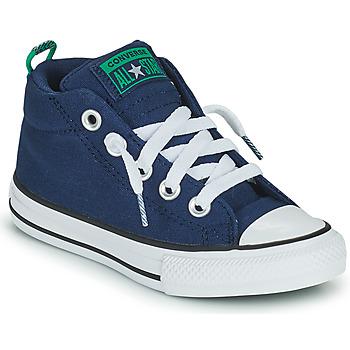 kengät Lapset Korkeavartiset tennarit Converse CHUCK TAYLOR ALL STAR STREET CANVAS COLOR MID Sininen