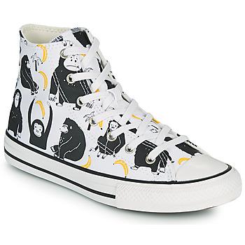 kengät Lapset Korkeavartiset tennarit Converse CHUCK TAYLOR ALL STAR GOING BANANAS HI Valkoinen / Monivärinen