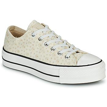 kengät Naiset Matalavartiset tennarit Converse CHUCK TAYLOR ALL STAR LIFT CANVAS BRODERIE OX Valkoinen