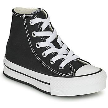 kengät Tytöt Korkeavartiset tennarit Converse CHUCK TAYLOR ALL STAR EVA LIFT CANVAS COLOR HI Musta
