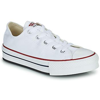 kengät Tytöt Matalavartiset tennarit Converse CHUCK TAYLOR ALL STAR EVA PLATFORM FOUNDATION OX Valkoinen