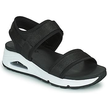 kengät Naiset Sandaalit ja avokkaat Skechers UNO Musta