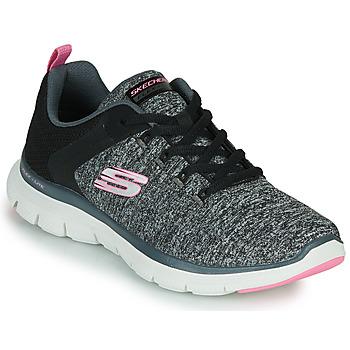 kengät Naiset Fitness / Training Skechers FLEX APPEAL 4.0 Harmaa / Vaaleanpunainen