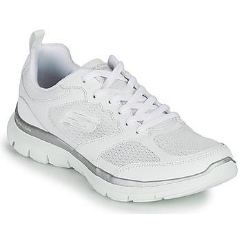 kengät Naiset Fitness / Training Skechers FLEX APPEAL 4.0 Valkoinen