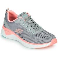 kengät Naiset Fitness / Training Skechers SOLAR FUSE COSMIC VIEW Harmaa / Vaaleanpunainen